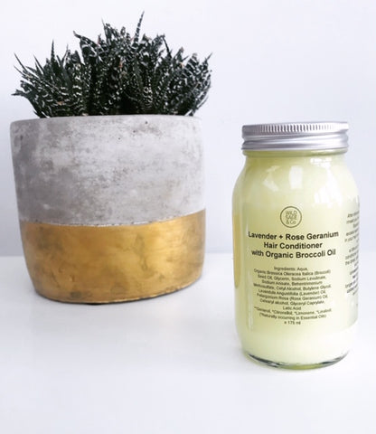 Wild Sage and Co Lavender and Rose Geranium Hair Conditioner with Organic Broccoli Oil