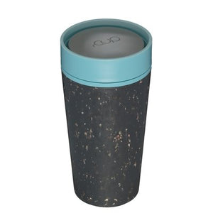 rCUP reusable 12oz cup black/teal