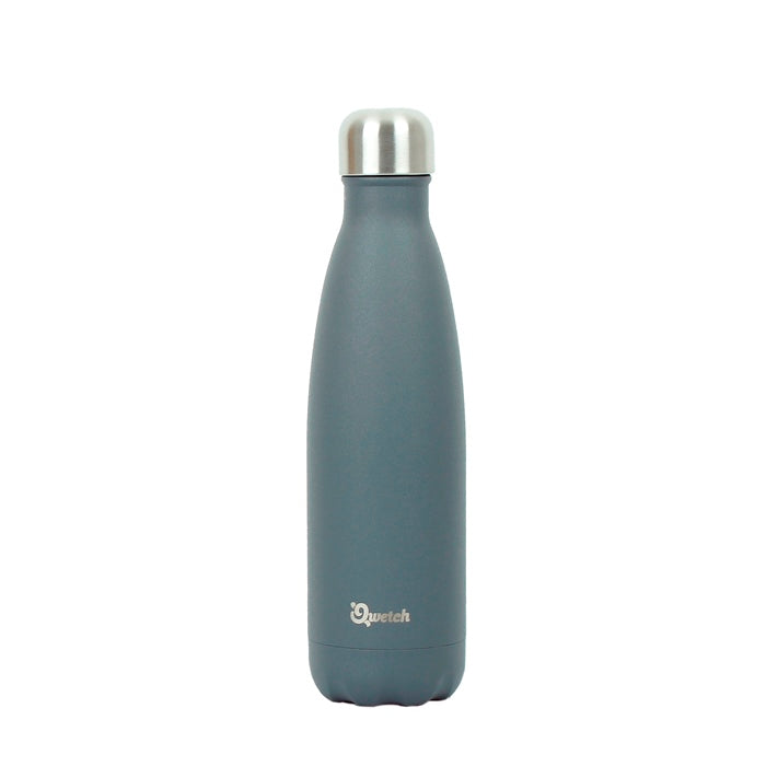 Qwetch Granite Grey Insulated Stainless Steel Bottle 500ml