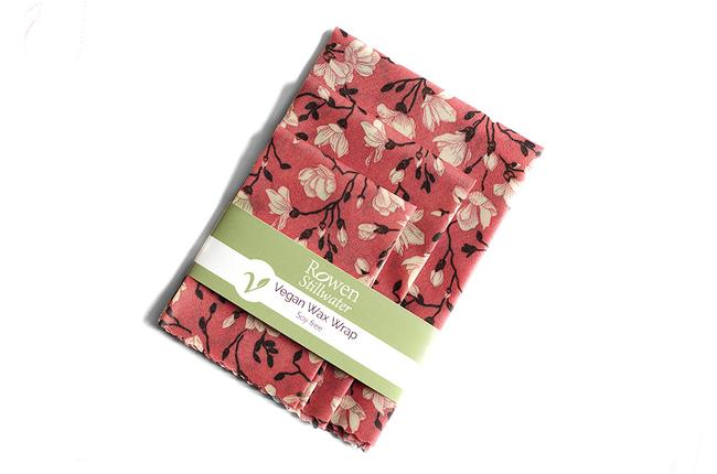 Rowen Stillwater Vegan Wax Wraps Pink Flowers 3 pack
