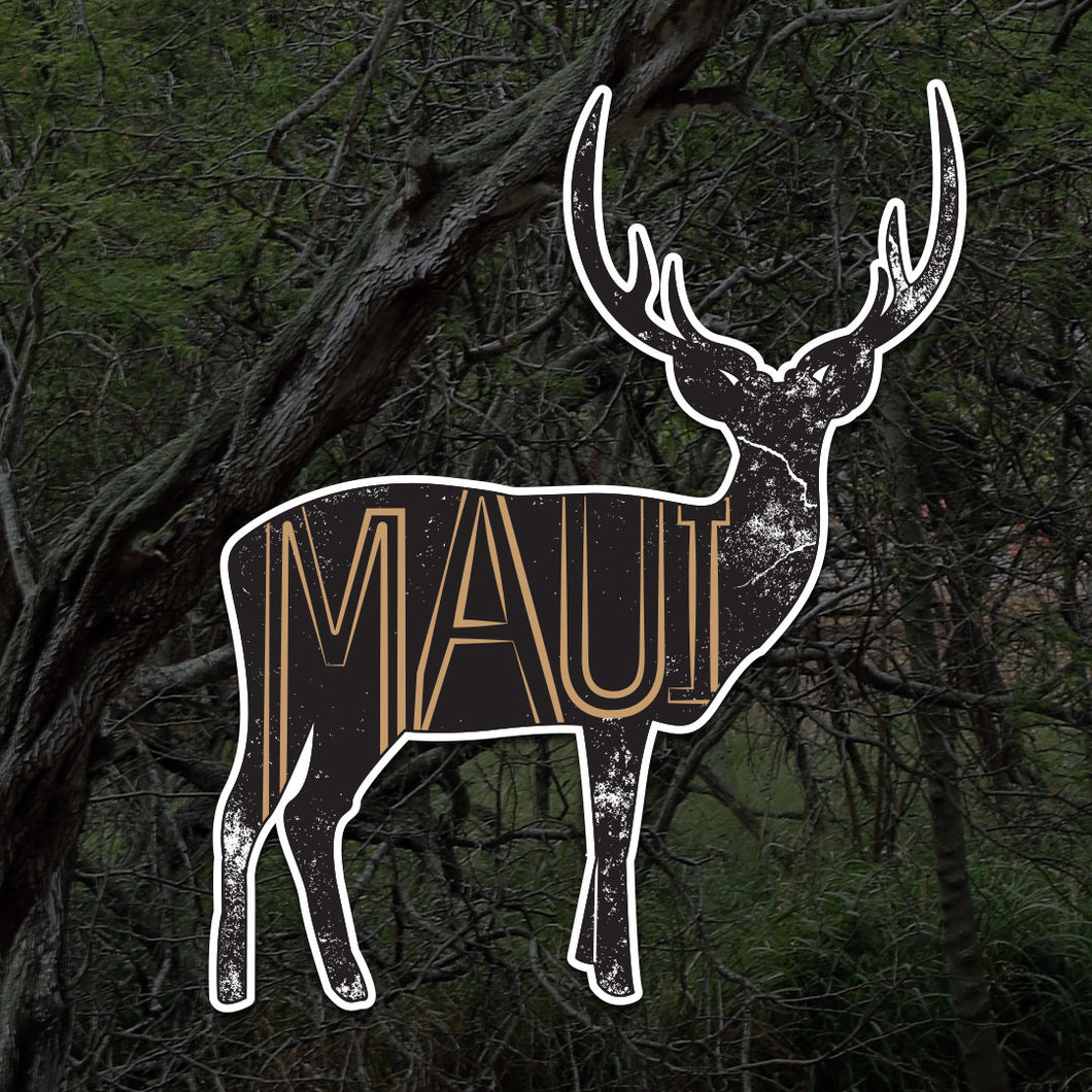 Maui Deer Sticker