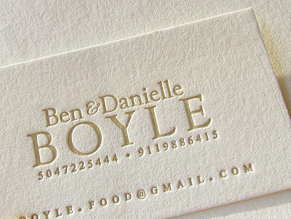 Letterpress Printed Business Cards