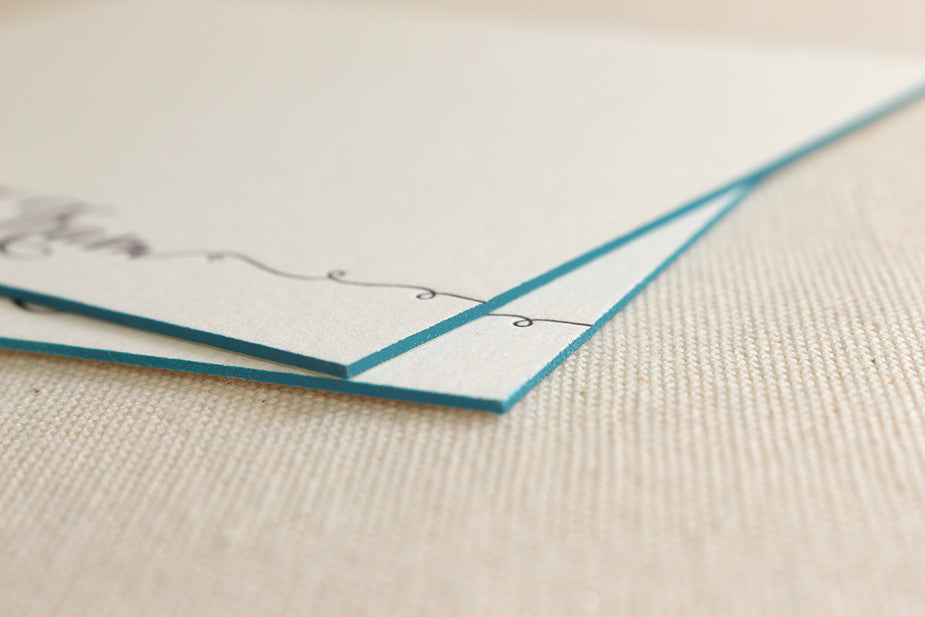 Edge Painted Business Cards and Stationery