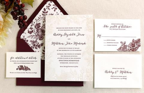 The Vintage Rose Suite – Fall Wedding Invitations