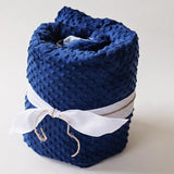 Navy Blue Minky Weighted Blanket