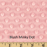 Blush Minky Dot Weighted Blanket