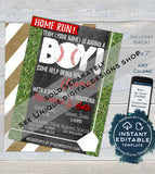 Soccer Boy Baby Shower Invitation KIT, Editable Baby Sprinkle Baby Boy Invite Diaper Raffle Books for Baby Insert Printable INSTANT DOWNLOAD