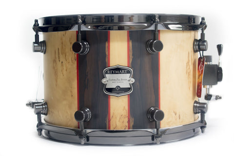 Tarola Reymart Custom Pro 12x8 Maple, Birch Burl, Ziricote