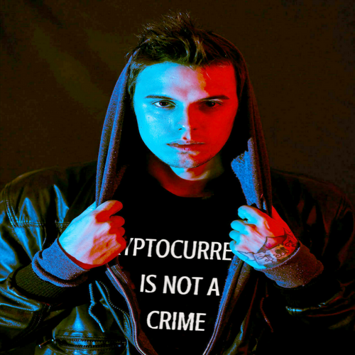CRYPTOCURRNCY IS NOT A CRIME Men's HARDCORE Fashion T-Shirt