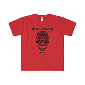 BLOCKCHAIN BANDIT Men's Fitted Short Sleeve Tee