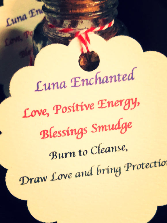 Love, Positive Energy Blessings Smudge Incense Blend