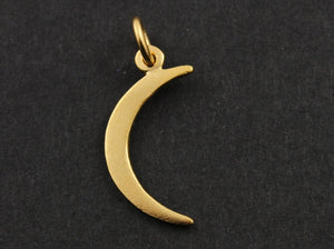 24K Gold Vermeil Over Sterling Silver Crescent Large Moon Charm -- VM/CH5/CR28