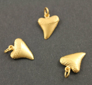 24K Gold Vermeil Over Sterling Silver Mini Shark Tooth -- VM/CH4/CR92