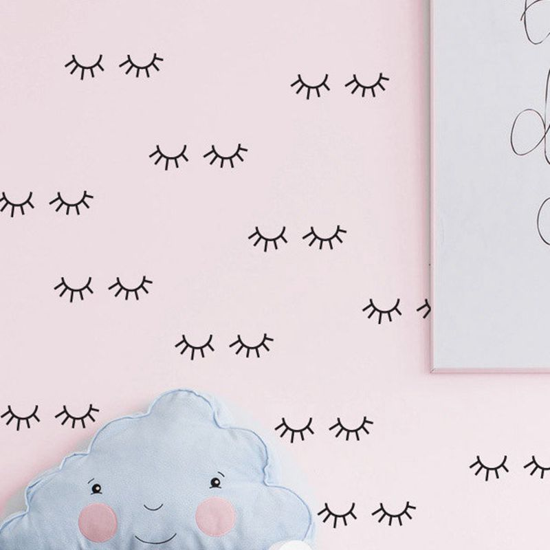 Eyelash Vinyl Wall Decals