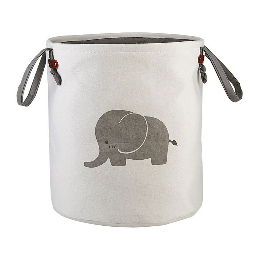 Foldable Round Storage Basket - Elephant