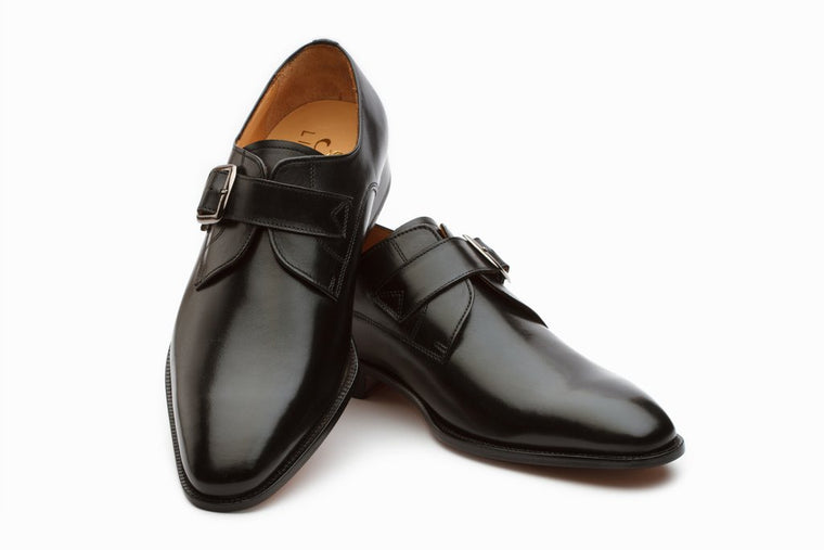 Plain Single Monkstrap - Black