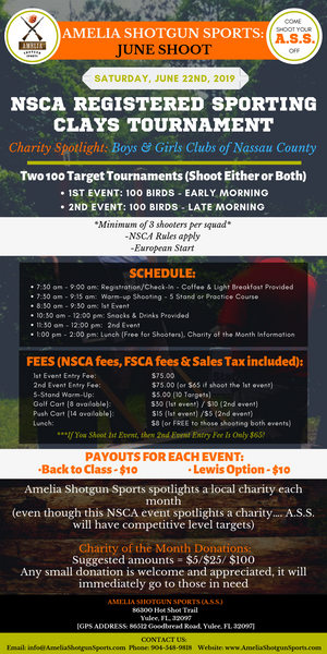 NSCA REGISTERED SPORTING CLAYS TOURNAMENT     Charity Spotlight: Boys & Girls Clubs of Nassau County