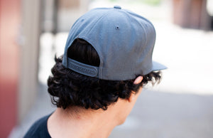 d4h Puff Gray Embroidered Logo Hat