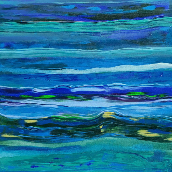 """Waves of the Sea"" by Sandra Pallotta, Acryic on Canvas"