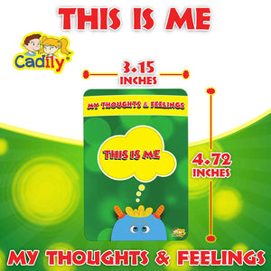 Cadily This is Me: Sentence Completion Cards | Play Therapy Toys for Parents & Professionals to Teach Kids to Express Feelings