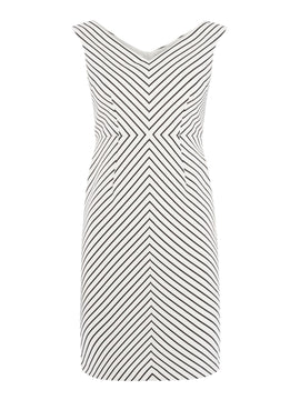 Adrianna Papell Petite cap sleeve dress- White