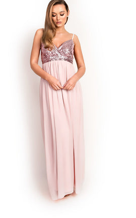 IKRUSH Womens Amelie Sequin Floaty Maxi Dress