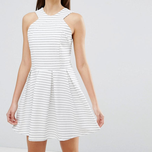 d.RA Rosalie Stripe Skater Dress - Clubhouse stripe