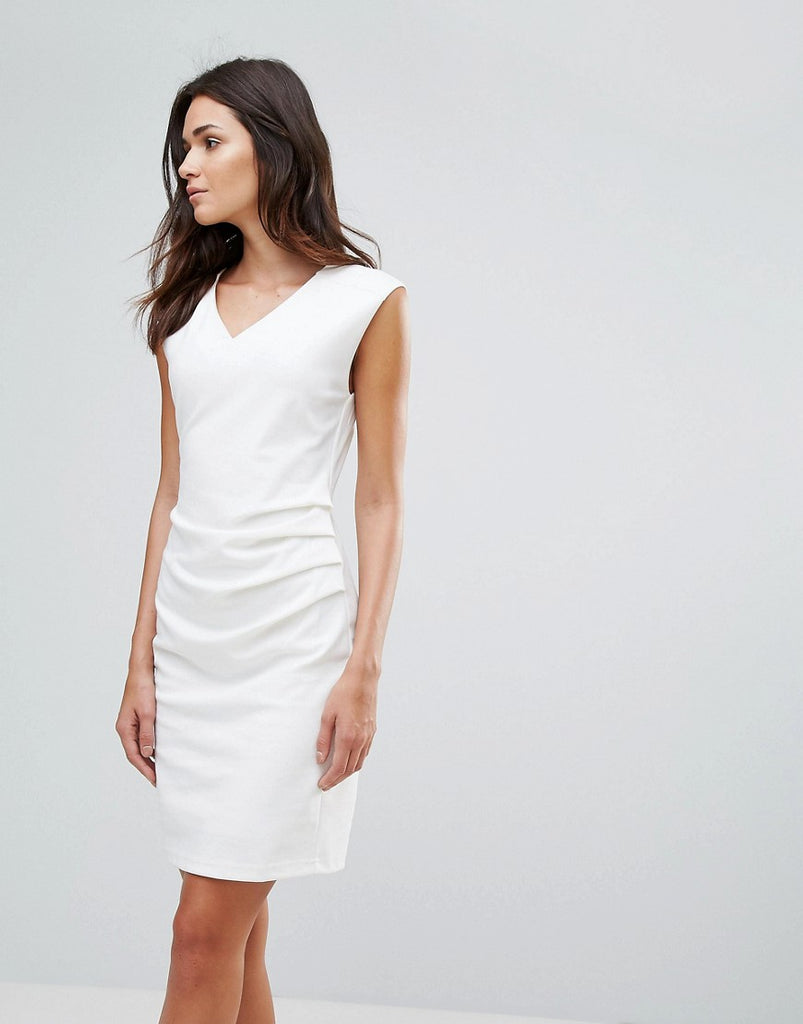 b.Young Gather Side Dress - Off white