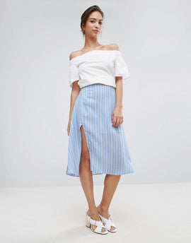 A State Of Being Unknown Skirt - Blue/white