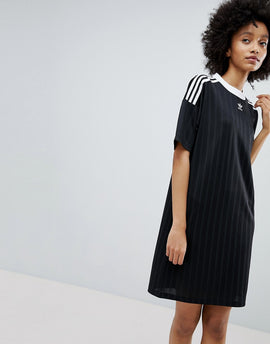adidas Originals adicolor Three Stripe Dress In Yellow - Yellow