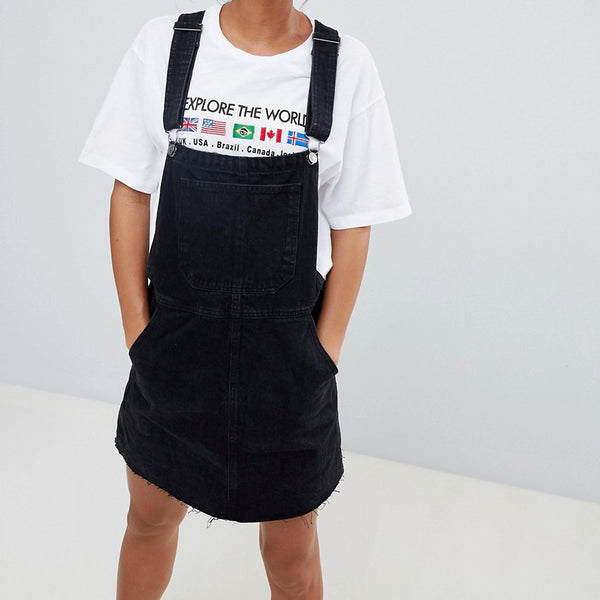 Bershka Dungaree dress - Black