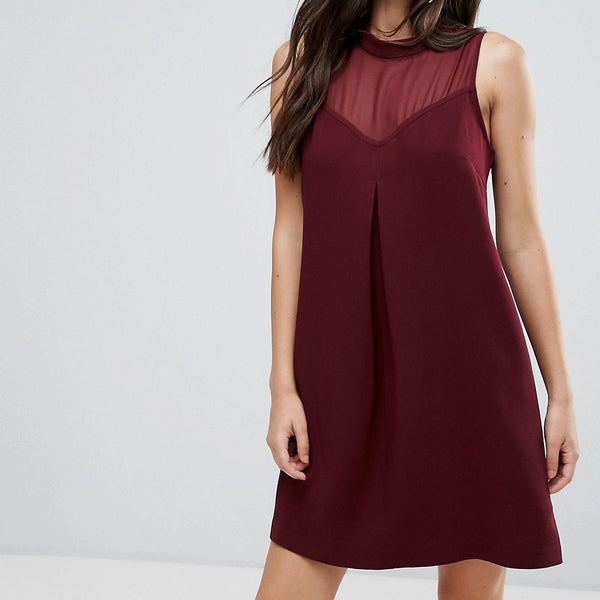 BCBG Sweetheart Mesh Cocktail Dress - Brulee 143