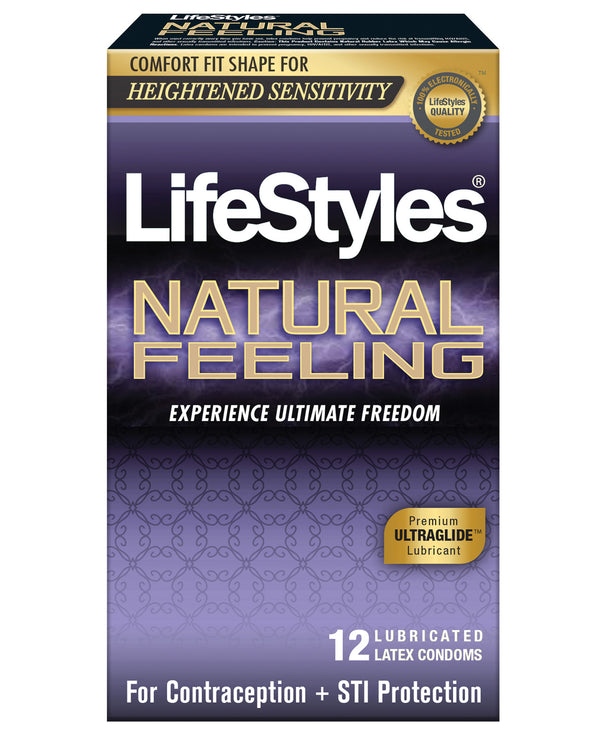 Lifestyles Natural Feeling Condoms - Pack Of 12
