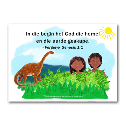 Afrikaans Poster on Creation