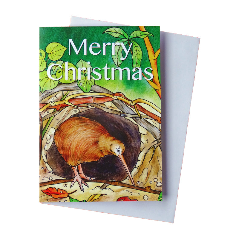 Christopher Kiwi New Zealand Adventure Christmas Card