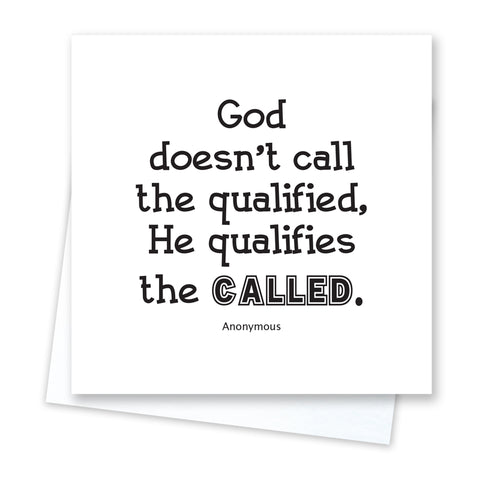 God Equips Us Card