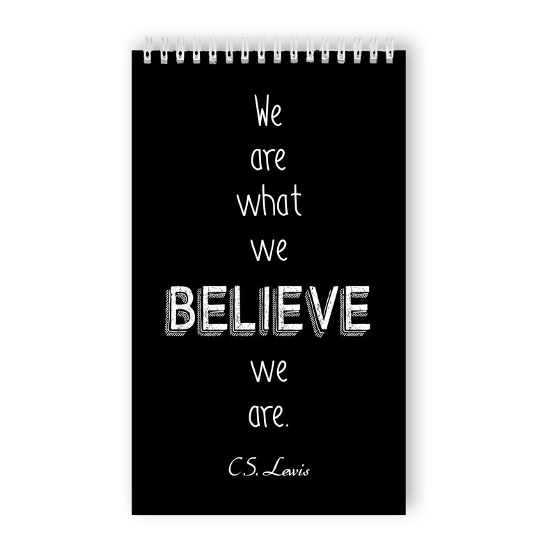 Ring-bound 'Believe' Notebook - 50 Unlined Pages
