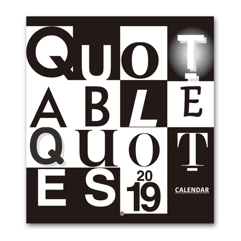 2019 Quotable Quotes Wall Calendar