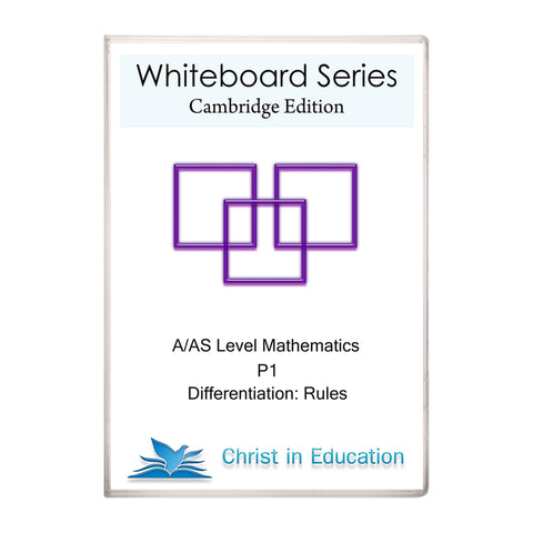 Cambridge Whiteboard Series: A/AS Maths: Differentiation Part 2