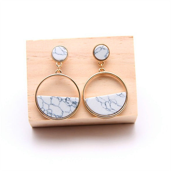 Handmade Marble Drop Earrings