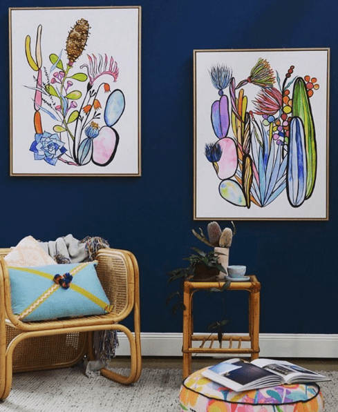 Cacti Diptych (Right) by Madeleine Stamer | Shop Prints | Greenhouse Interiors
