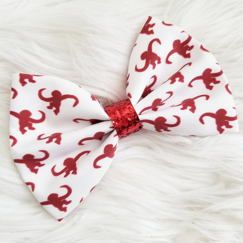 Monkeys in Barrels Inspired Disney Fabric Hair Bow