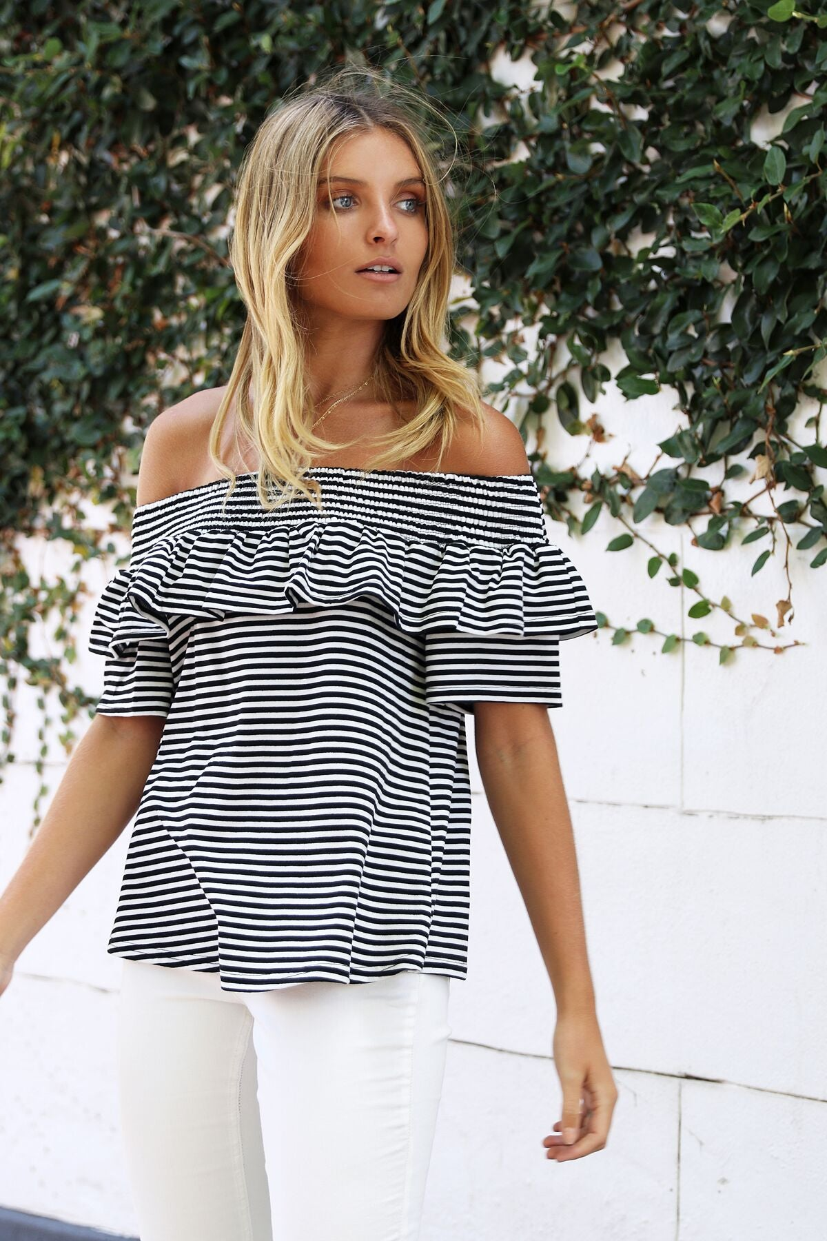Hamilton Stripe Top || Black & White