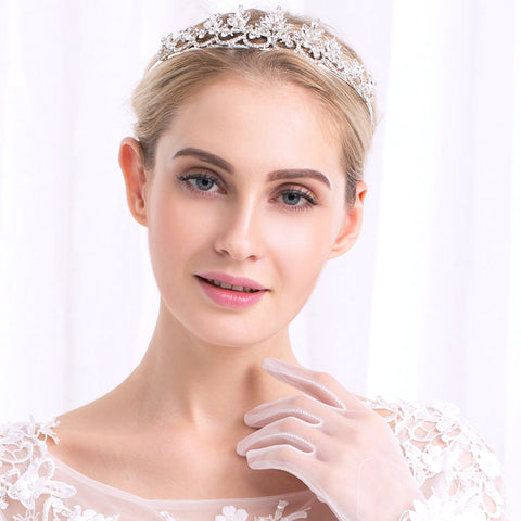 OPHELIA | Vintage Style Tiara with Crystals - The Luxe Bride Co