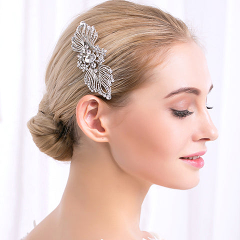 SCARLETT | Vintage Style Headpiece with Crystals - The Luxe Bride Co