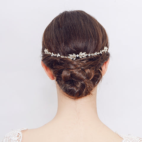 Sophia Wedding Headpiece with Austrian Crystals- The Luxe Bride Co