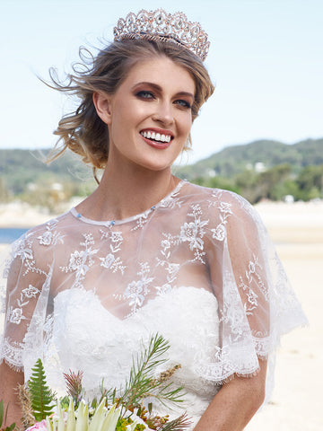 CAPRI | Floral Lace Bridal Cape
