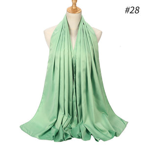 New Candy Color Luxury Large Satin Silk Scarf Shawl