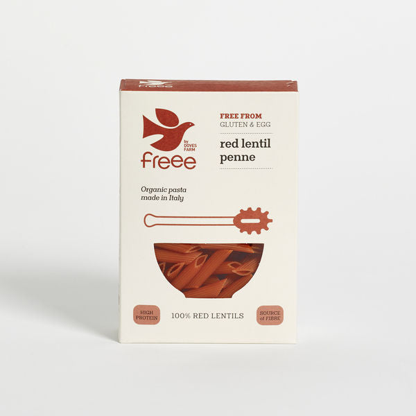 Freee by Doves Farm Organic Gluten Free Red Lentil Penne 250g - Asiaboxx Foods | Hong Kong