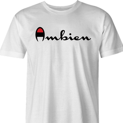 Funny Ambien Champion men's t-shirt white